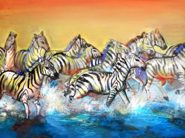 zebras by 0becomingX