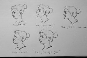 Expression studies by Icecoldart