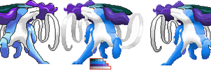 Suicune Sprite by Ho-ohLover