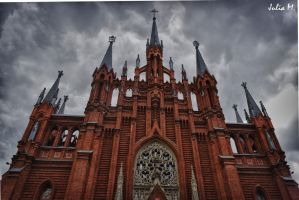 Gothic cathedral in Moscow by shytiha