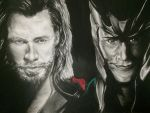 Thor and Loki by Asayn-Gazzedon11