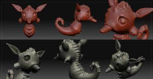 Sea horse -making off- by renzus