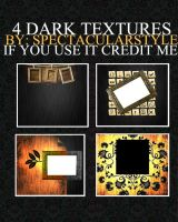 4 dark textures by spectacularstyle