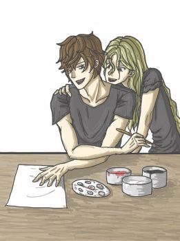 Julian Blackthorn and Emma Carstairs by Iampuny