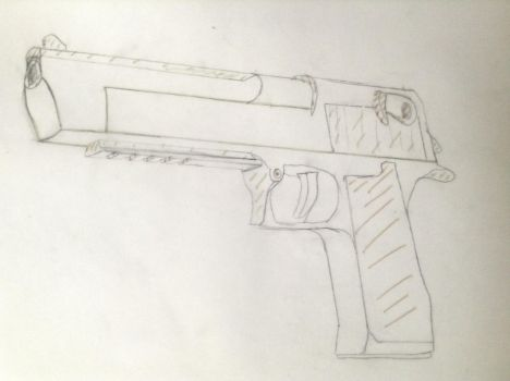 One Deag pre-cut drawing by milesredfin