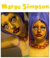 Marge Simpson Glam Makeup Look by HannabalXMarie