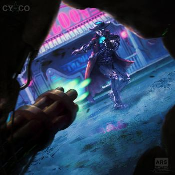 Cy-Co Boardgame Cover Art by fantasio