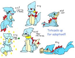 Totozel Adoptables- CLOSED by SkittyKittyCat