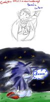 sonic lobo (werehog) comic by teresastrawberry