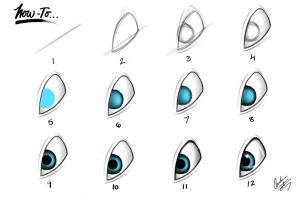 Jewel's Eyes, How to Draw! by F0st3rArt