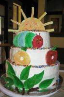 Hungry Caterpillar Cake - view 1 by Jennfrog