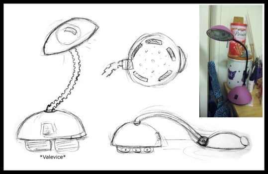 Lamp Imagination Sketch by Valevice