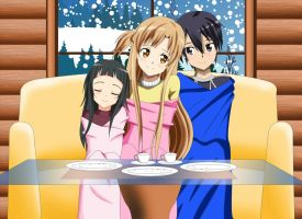 .: SAO : A happy evening at winter :. by Sincity2100