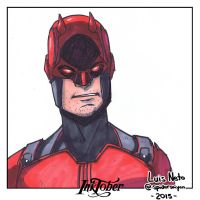 Inktober Day-2 - Daredevil by Spidersaiyan