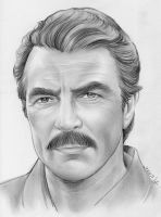 Tom Selleck by gregchapin