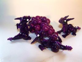 Grape Dragons Sculpture by ByToothAndClaw