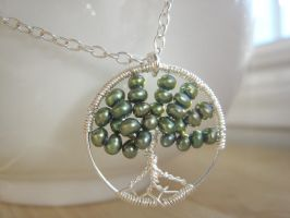 Tree of life pearls pendant by albitas