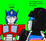 Optimus's stare'n problem... by Ynnep