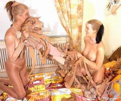 Dee and Nadine Nylon Orgy 2 by crazy6666