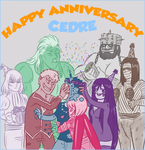 Happy Anniversary Cedre by fishyoctopus