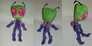 Zim Plush prototype body test by VengefulSpirits