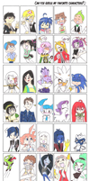 Can You Guess My (Outdated) Favorite Characters? by Jen-the-Cat-desu