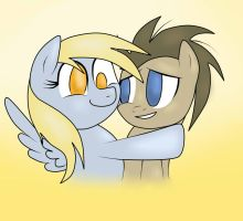 Derpy and Dr.Whooves by IDSmehlite