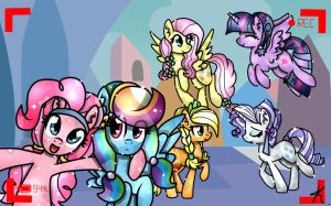 MLP: ''Say hello to camera Dashie! For Fans!'' by KikiRDCZ
