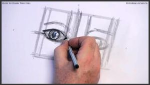 Learn how to draw two eyes 009 by drawingcourse