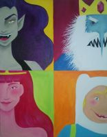 Adventure Time Quad Painting by SamanthaLynnArt
