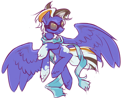 COMMISSION: (Roan) Pegascarf by InLucidReverie