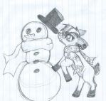 Holly and his Snowman by The1andonlyRaven