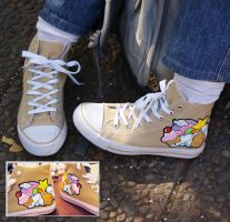 Painted shoes for me by vrlovecats