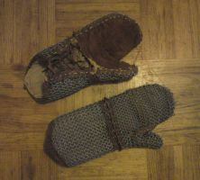 Viking chainmail gloves by carlviking