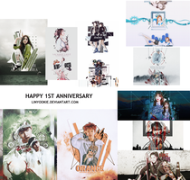 [PSD] 1 YEAR WITH DEVIANTART by LinYookie