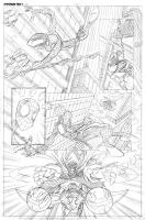 Spiderman page 1 pencils by DarioBrizuelaArtwork