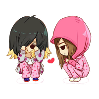 SNSD Taeyeon and Jessica Running Man Chibi ~PNG~ by JaslynKpopPngs