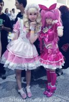 Cure Melody and Lolita kawaii maid cosplay by crazytabbix