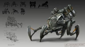 Quadruped mech design by gunsbins