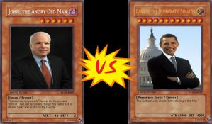 Obama VS McCain - Yugioh cards by hitokage195