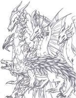 Oodles of Dragons by Substrain-Seven