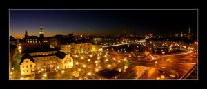 Stockholm Night Panorama by parasite3