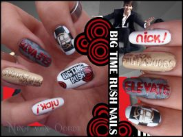 Big time rush nails by Ninails