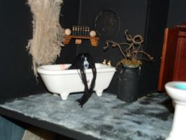 Haunted House Grudge Tub by DollzMaker