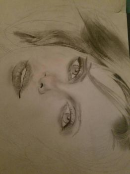 Incomplete drawing of Charlize Theron by jesseTodd67