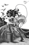 New 52 Wonder Woman 118 Cover Grey scale by MarioUComics