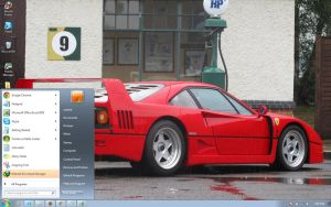Ferrari-F40 windows 7 theme by windowsthemes