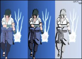 "sasuke Chidori  ""Evolution"" by Mandiiine"