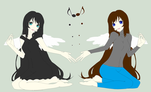 Me And Aunty  Angels by Zanny-Marie