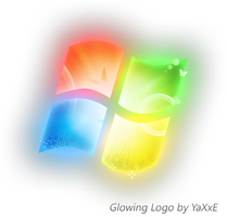 Windows 7 Glowing Logo by yaxxe